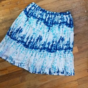 AGB tie dyed skirt ruffled size small